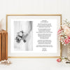 """For My Mum On My Wedding Day"" A4 Personalised Print"