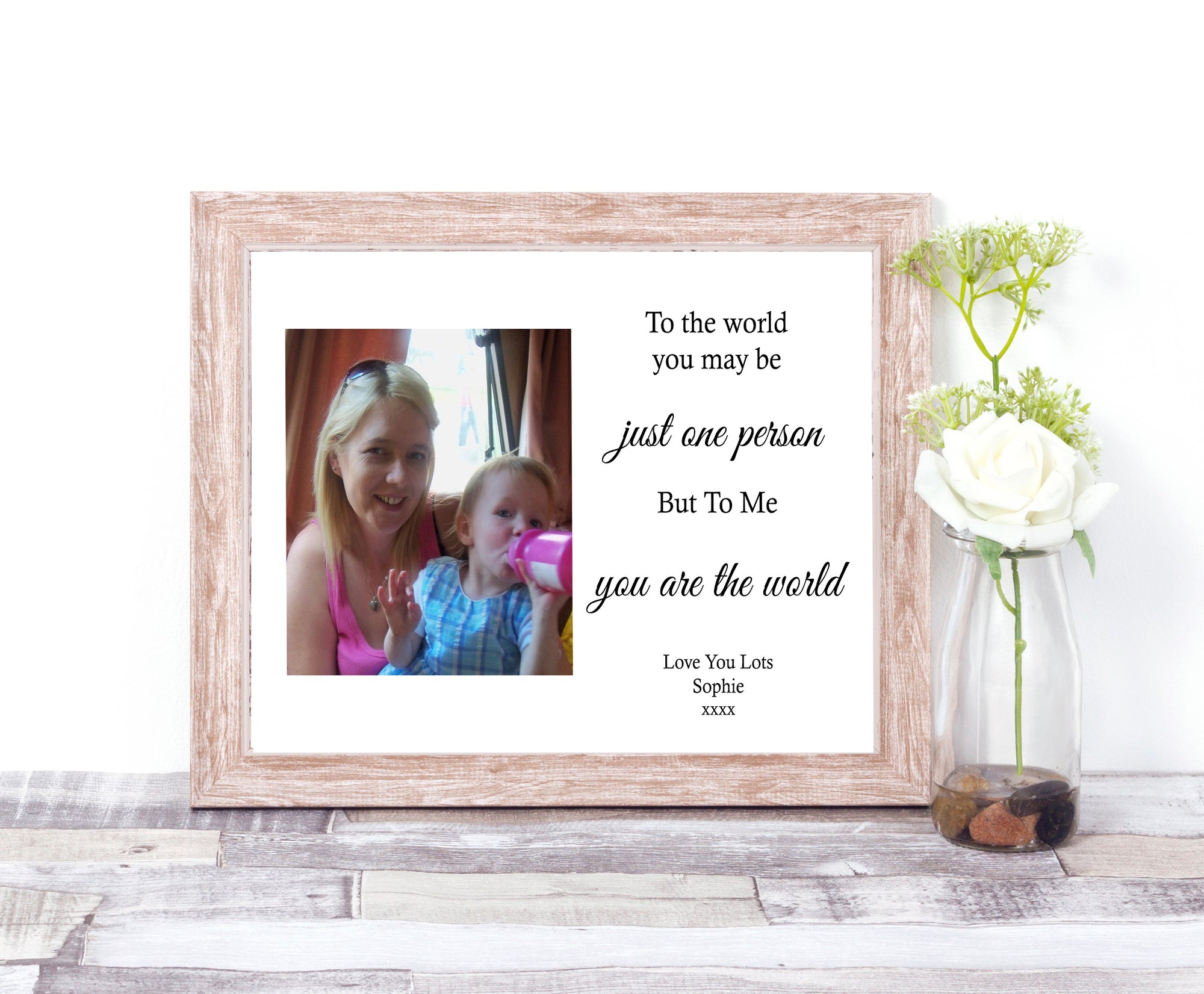 Personalised Photo Print For Mummy - To The World
