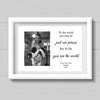 Personalised A4 Print For Daddy - To The World