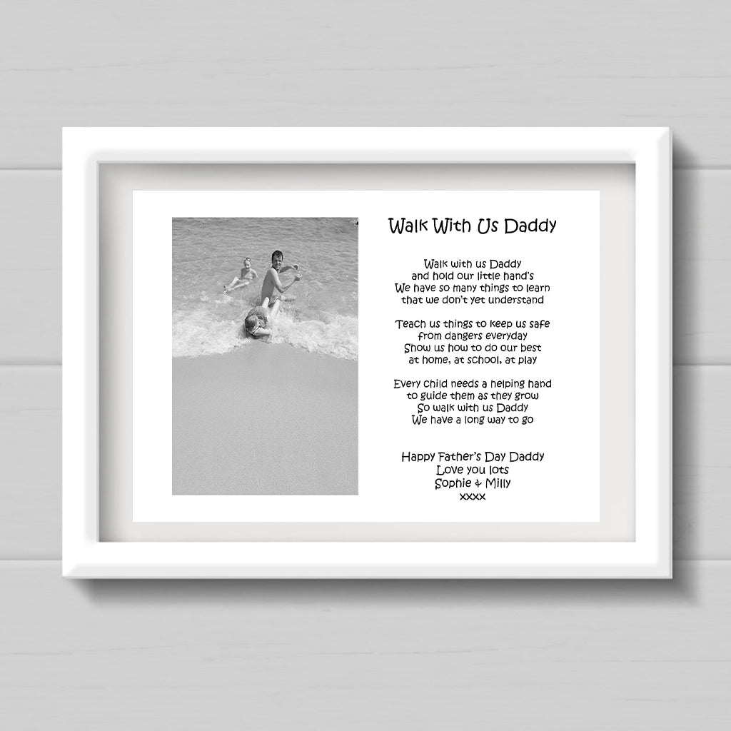 Walk With Us Daddy A4 Print
