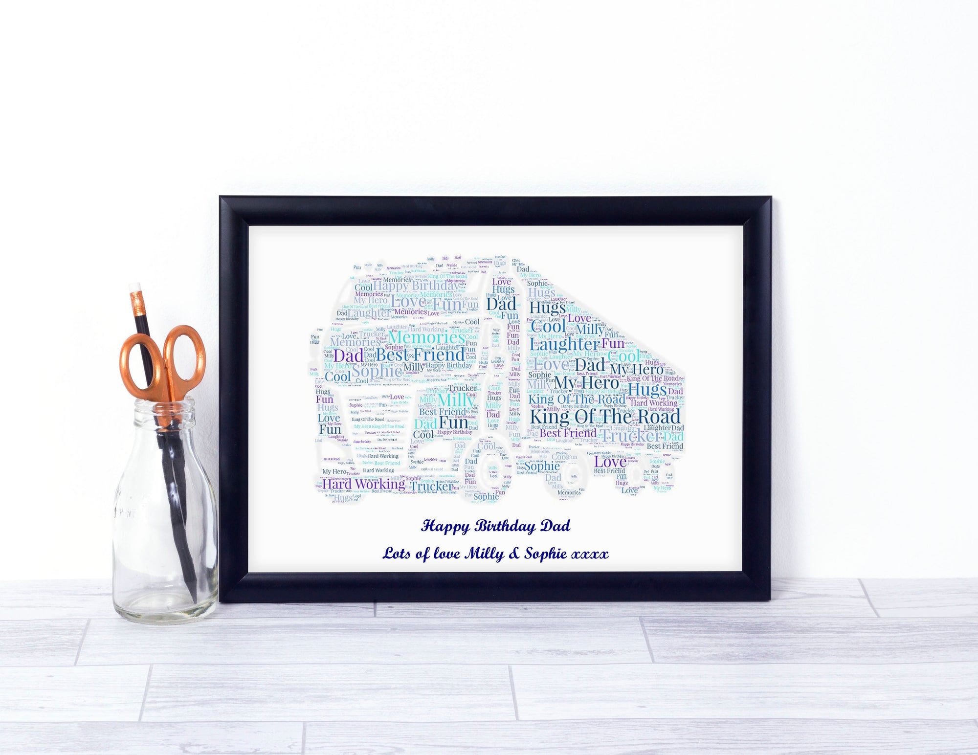 Personalised Truck Driver Word Art Print