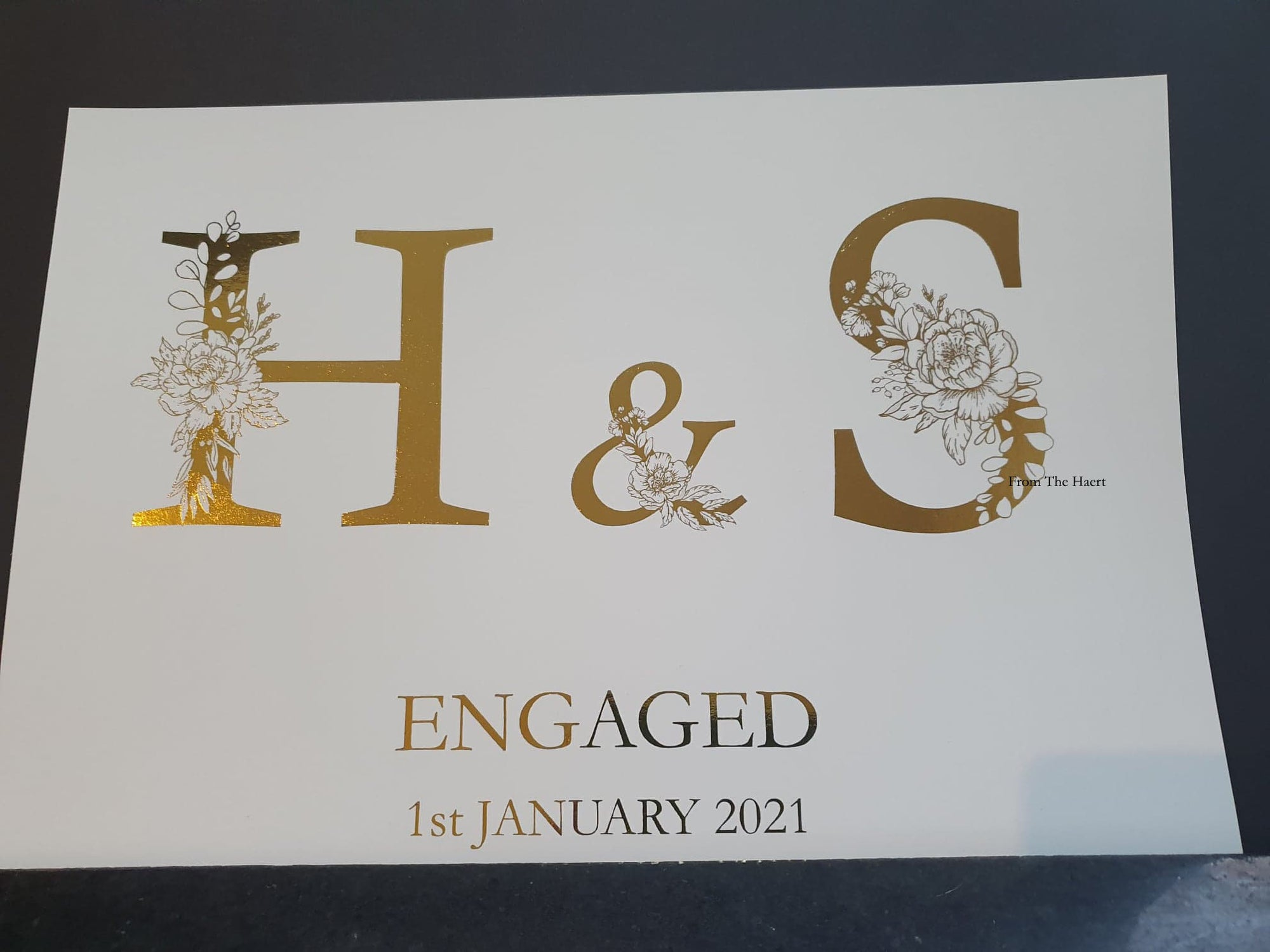 Personalised Foiled Engagement Gift