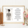 "A4 ""For My Mum On My Wedding Day"" Personalised Print"