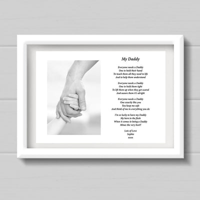 A4 Personalised My Daddy Print/Gift