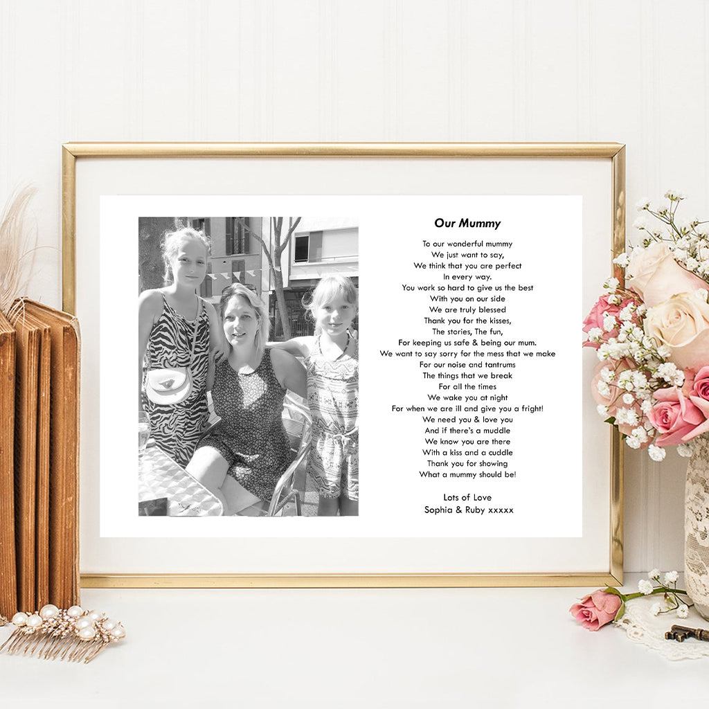 Personalised Our Mummy Photo Print