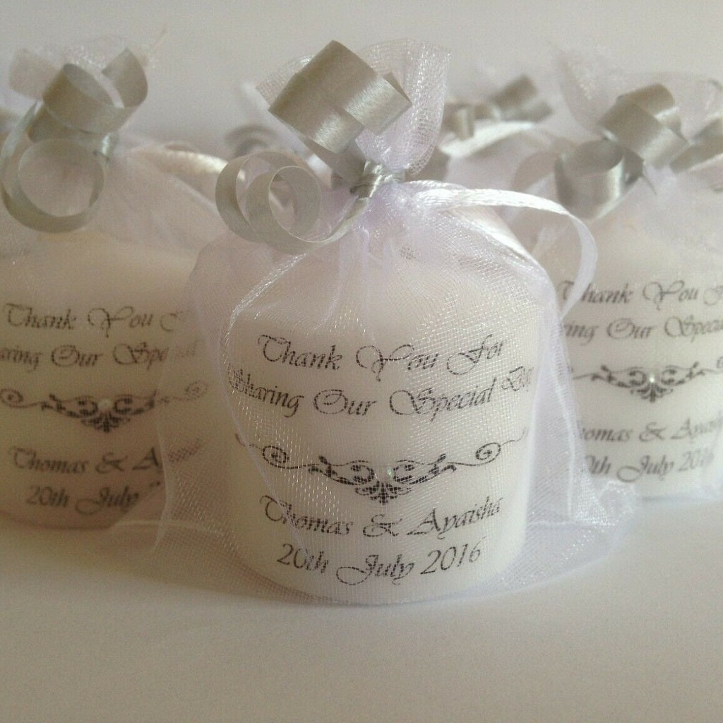 "Personalised ""Thank You For Sharing Our Special Day"" Wedding Favours"