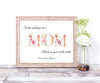 To The World You Are A Mum Personalised print