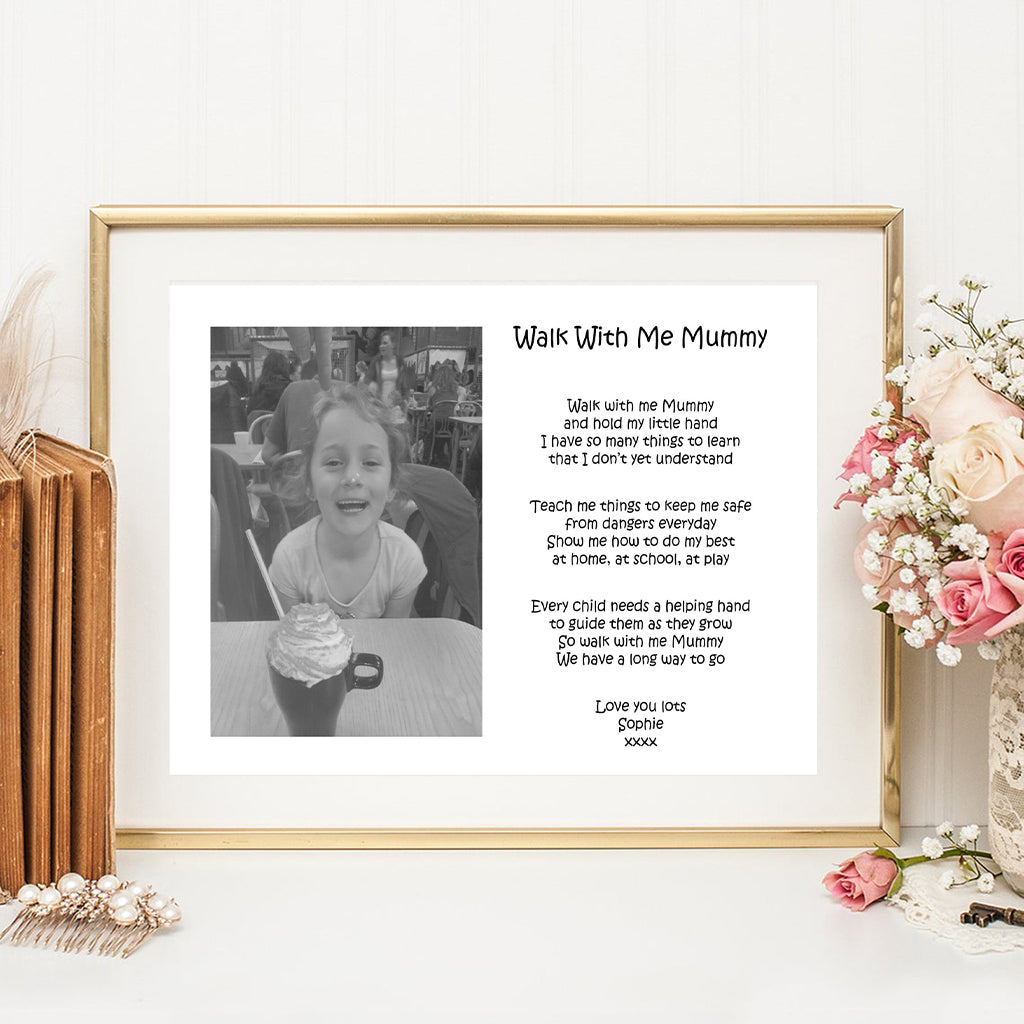Walk With Me Mummy Print With Photo
