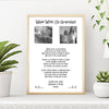 Personalised Walk With Us Grandad Print
