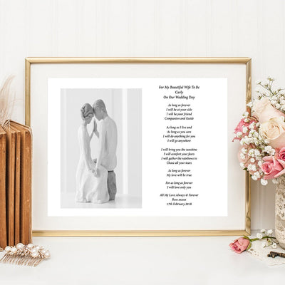 A4 Personalised For My Wife To Be Poem