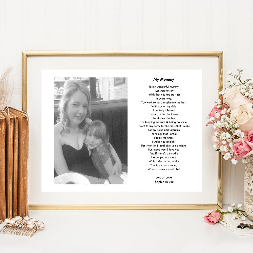 Personalised Wonderful Mum Photo Print