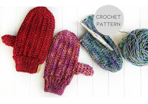 PATTERN - crochet - The Fresh Tracks Mittens