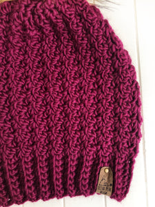Winter Rose Beanie - Custom Order