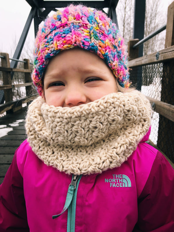 Winter Rose Cowl - Adult & Toddler - Custom Order