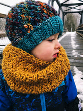 Load image into Gallery viewer, Winter Rose Cowl - Adult & Toddler - Custom Order