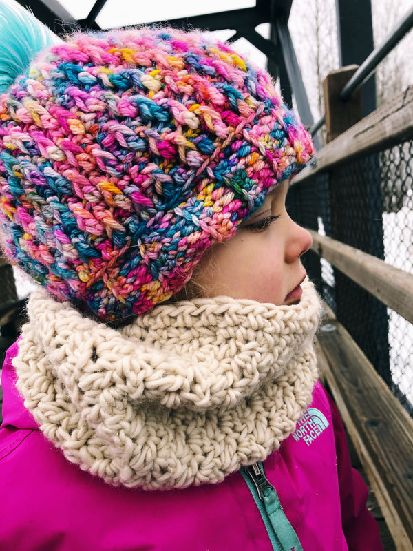 Winter Rose Cowl - Toddler - Ivory