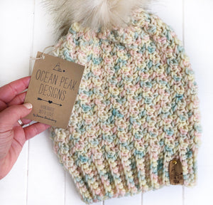 Winter Rose Beanie - Adult - Marshmallow