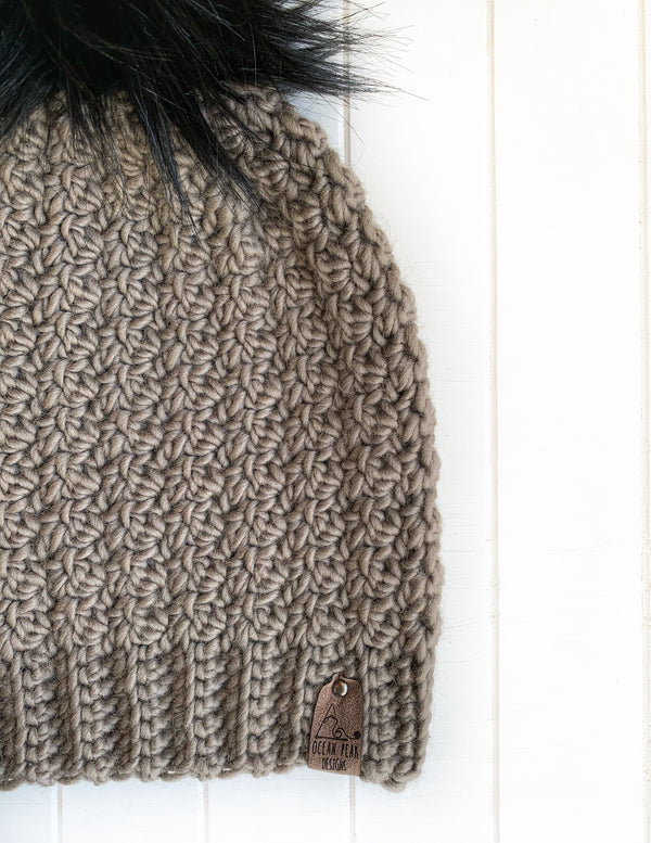 Winter Rose Beanie - Adult - Taupe