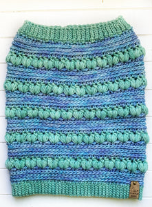 Cosmic Cowl - Aquamarine & Water Green