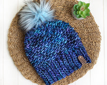 Load image into Gallery viewer, Luxed Aurora Beanie - Adult - Azules