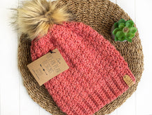 Load image into Gallery viewer, Winter Rose Beanie - Adult - Spotted Pink