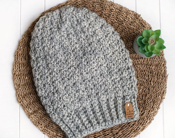 Winter Rose Beanie - Adult - Spotted Grey