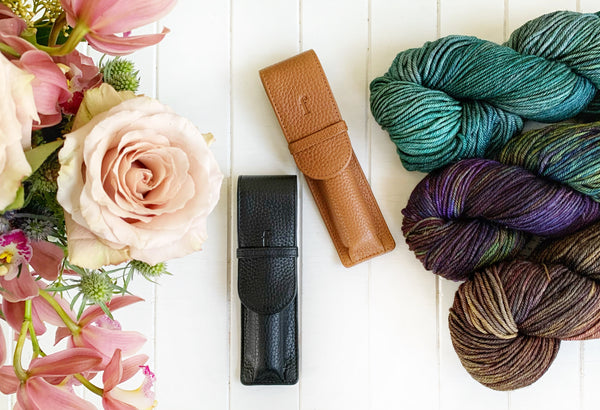 Leather Single Crochet Hook Holder