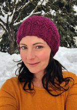 Load image into Gallery viewer, PATTERN - crochet - The Winter Rose Beanie