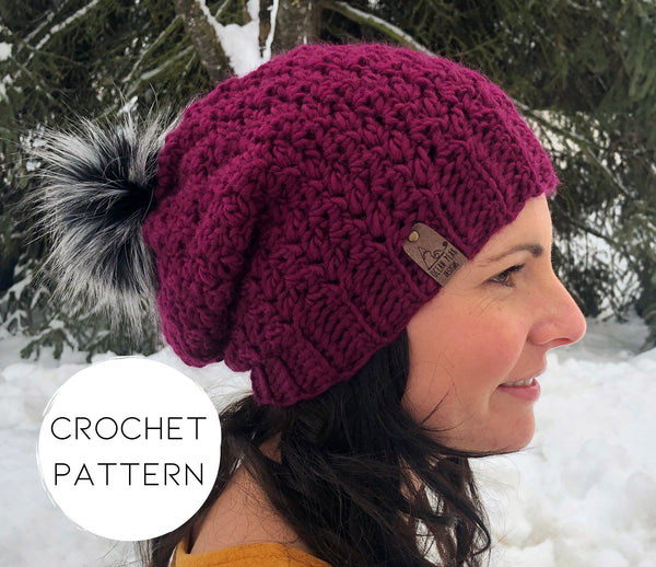 PATTERN - crochet - The Winter Rose Beanie