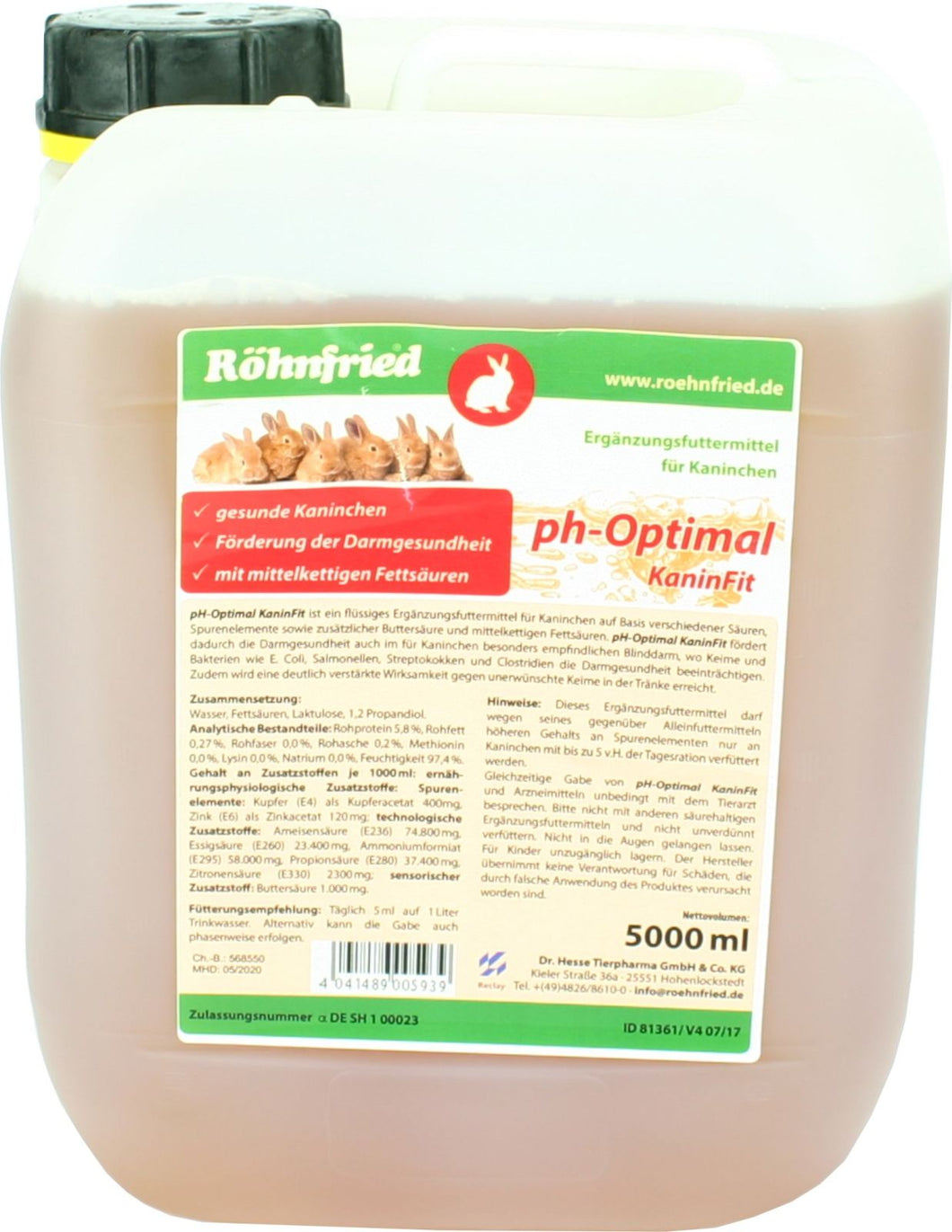 RÖHNFRIED pH-Optimal KaninFit 5l
