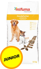 Laden Sie das Bild in den Galerie-Viewer, MIFUMA Hundefutter Premium JUNIOR 15kg
