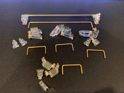 ZealPC Transparent Gold-Plated Stabilizers