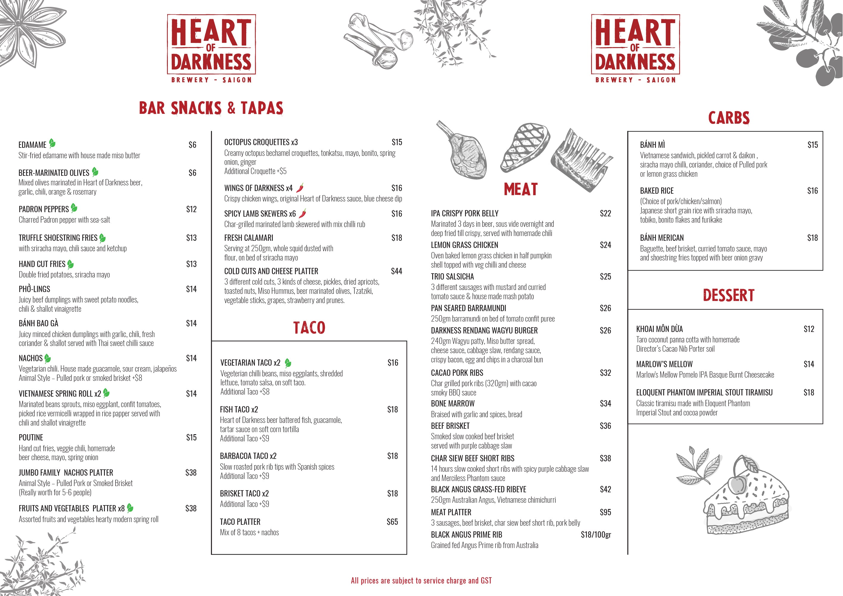 heart of darkness menu singapore