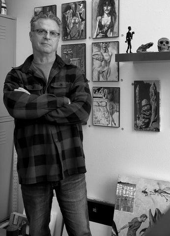 Gregory Hergert in his studio in downtown Portland, OR.