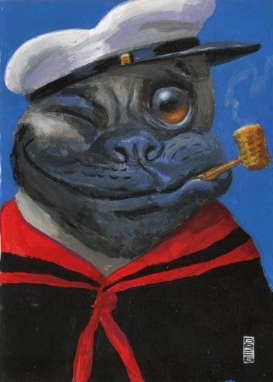 Tugboat pug - Gregory Hergert