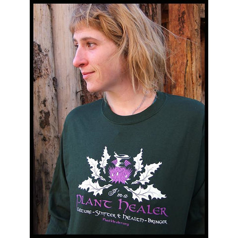 Mortar & Thistle Forest Green Long Sleeve Tee