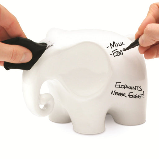 Dry Wipe Memo Ceramic Elephant