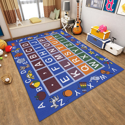 Numbers and Animals Educational Area Rug for Children