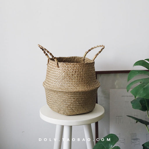 Handmade Rattan Foldable Woven Decoration Flower Basket