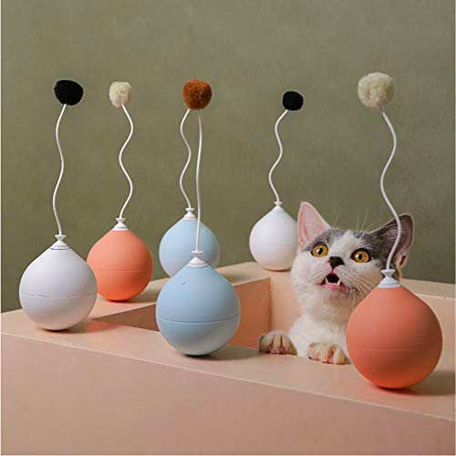 Electronic Cat Toy Feather Self Rolling Ball