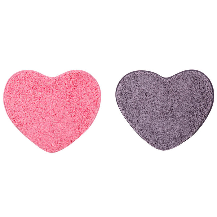 Heart Shaped Lambskin Mat