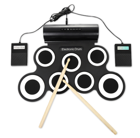 Portable Roll Up Electronic Drum Pad Set