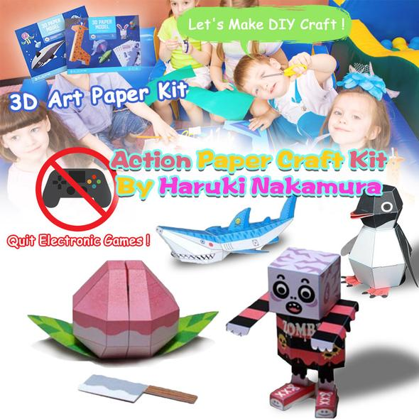 Action paper craft kit