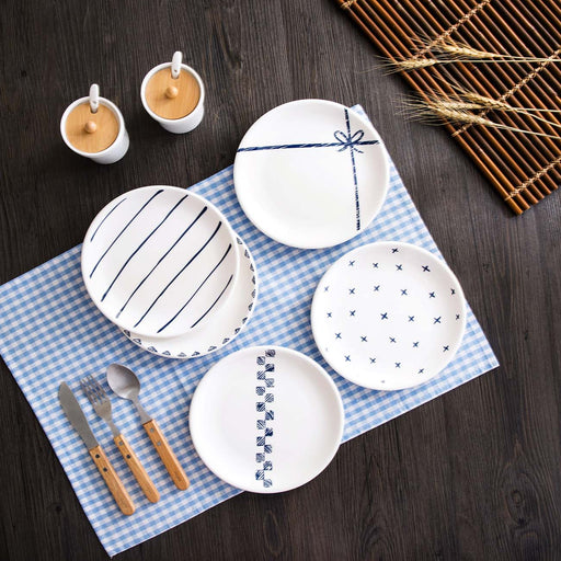 2pcs Ceramic Western Plate Set