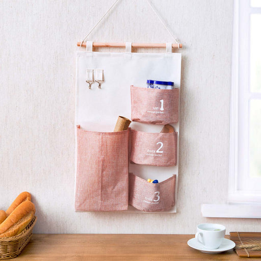 Linen Hanging Door Pocket Organisers