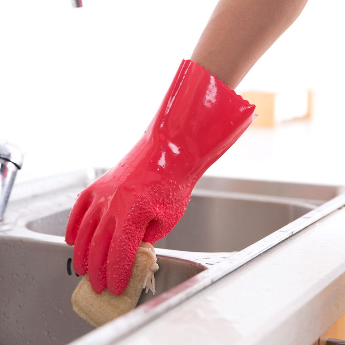 2pcs Rubber Gloves For Household Cleaning Gloves