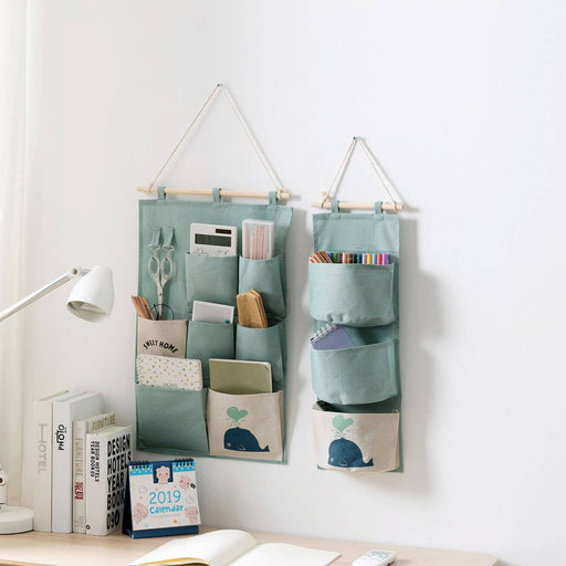 Cotton Hanging Pocket Storage Bag