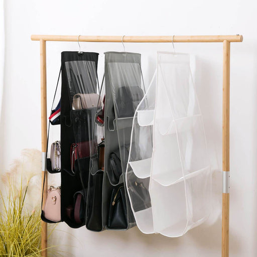6 Pocket Hanging Handbag Purse Organizer