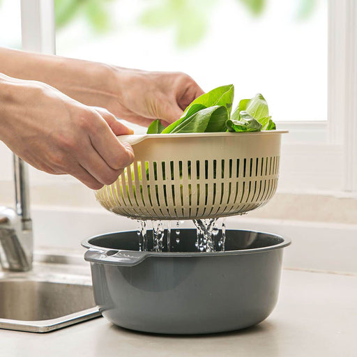 Double-layer Vegetable Washing Basket