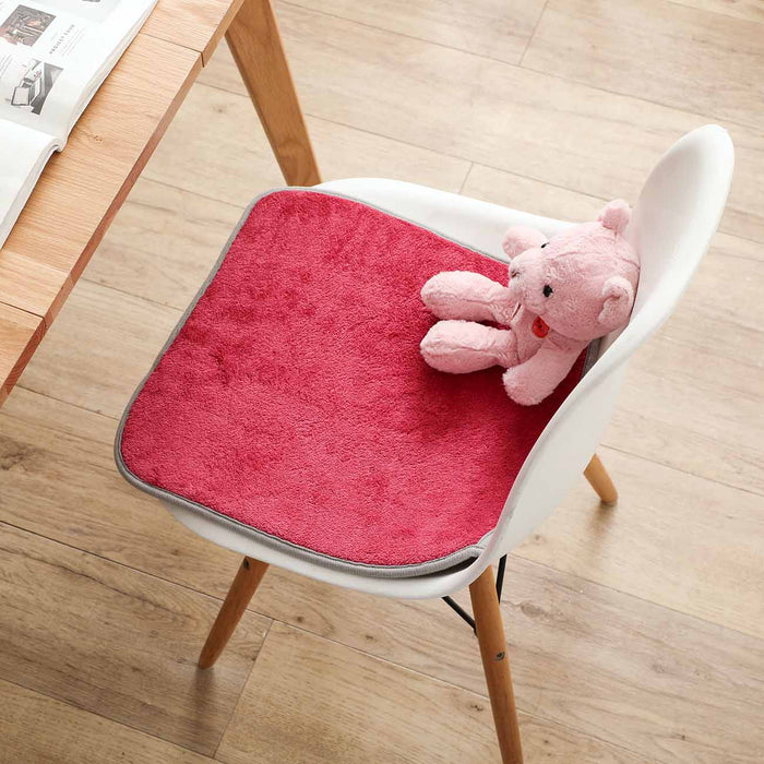Coral Feece Non-Slip Chair Seat Cushion
